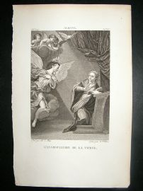 After Albane C1810 Antique Print. L'Annonciation De La Vierge, Cherubs, etc